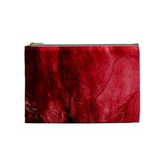 Red Background Texture Cosmetic Bag (medium)  by Simbadda