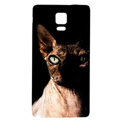 Sphynx Cat Galaxy Note 4 Back Case by Valentinaart