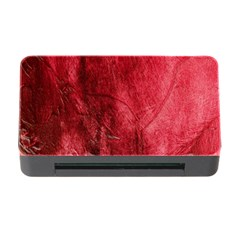 Red Background Texture Memory Card Reader With Cf by Simbadda