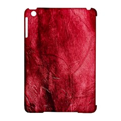 Red Background Texture Apple Ipad Mini Hardshell Case (compatible With Smart Cover) by Simbadda