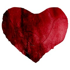 Red Background Texture Large 19  Premium Heart Shape Cushions by Simbadda