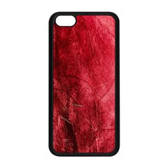 Red Background Texture Apple Iphone 5c Seamless Case (black) by Simbadda