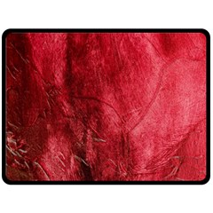 Red Background Texture Double Sided Fleece Blanket (large)  by Simbadda