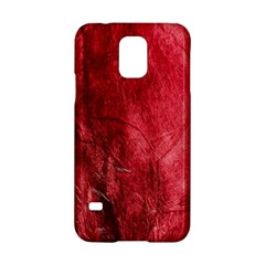 Red Background Texture Samsung Galaxy S5 Hardshell Case  by Simbadda