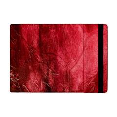 Red Background Texture Ipad Mini 2 Flip Cases by Simbadda