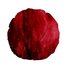 Red Background Texture Standard 15  Premium Flano Round Cushions by Simbadda