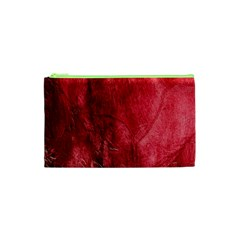Red Background Texture Cosmetic Bag (xs) by Simbadda