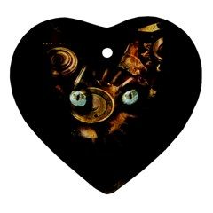Sphynx Cat Ornament (heart) by Valentinaart