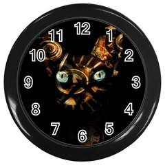 Sphynx Cat Wall Clocks (black) by Valentinaart