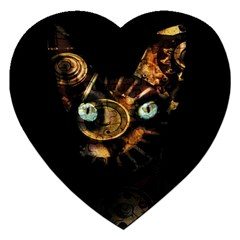 Sphynx Cat Jigsaw Puzzle (heart) by Valentinaart