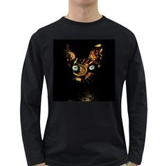 Sphynx Cat Long Sleeve Dark T Shirts by Valentinaart