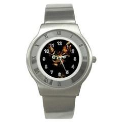 Sphynx Cat Stainless Steel Watch by Valentinaart
