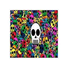 Skull Background Bright Multi Colored Acrylic Tangram Puzzle (4  X 4 ) by Simbadda