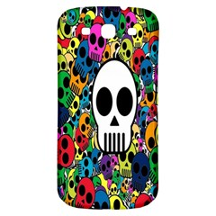 Skull Background Bright Multi Colored Samsung Galaxy S3 S Iii Classic Hardshell Back Case by Simbadda