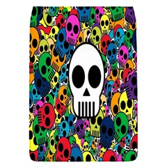 Skull Background Bright Multi Colored Flap Covers (s)  by Simbadda