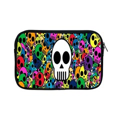 Skull Background Bright Multi Colored Apple Ipad Mini Zipper Cases by Simbadda