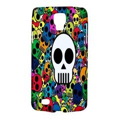 Skull Background Bright Multi Colored Galaxy S4 Active by Simbadda