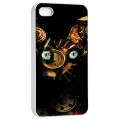 Sphynx Cat Apple Iphone 4/4s Seamless Case (white) by Valentinaart