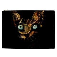 Sphynx Cat Cosmetic Bag (xxl)  by Valentinaart