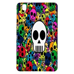 Skull Background Bright Multi Colored Samsung Galaxy Tab Pro 8 4 Hardshell Case by Simbadda