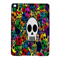 Skull Background Bright Multi Colored Ipad Air 2 Hardshell Cases by Simbadda