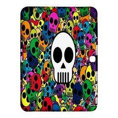 Skull Background Bright Multi Colored Samsung Galaxy Tab 4 (10 1 ) Hardshell Case  by Simbadda