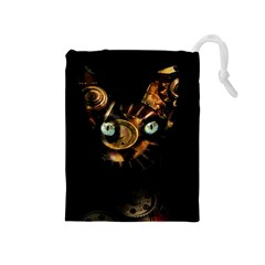 Sphynx Cat Drawstring Pouches (medium)  by Valentinaart