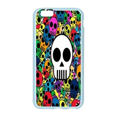 Skull Background Bright Multi Colored Apple Seamless iPhone 6/6S Case (Color) by Simbadda