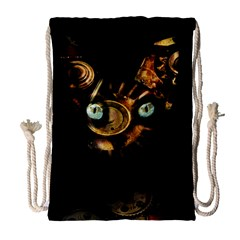 Sphynx Cat Drawstring Bag (large) by Valentinaart