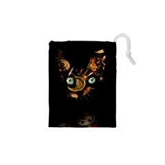 Sphynx Cat Drawstring Pouches (xs)  by Valentinaart