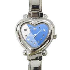 Stripes Lines Texture Heart Italian Charm Watch by Simbadda