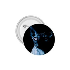 Blue Sphynx Cat 1 75  Buttons by Valentinaart