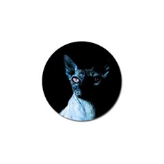 Blue Sphynx Cat Golf Ball Marker (4 Pack) by Valentinaart