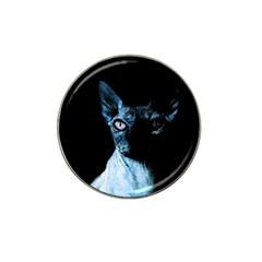 Blue Sphynx Cat Hat Clip Ball Marker