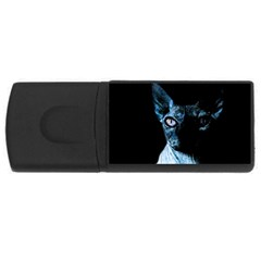 Blue Sphynx Cat Usb Flash Drive Rectangular (4 Gb) by Valentinaart