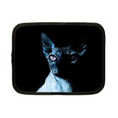 Blue Sphynx Cat Netbook Case (small)  by Valentinaart