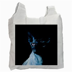 Blue Sphynx Cat Recycle Bag (two Side)  by Valentinaart