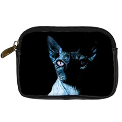 Blue Sphynx Cat Digital Camera Cases by Valentinaart