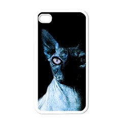 Blue Sphynx Cat Apple Iphone 4 Case (white) by Valentinaart