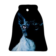 Blue Sphynx Cat Bell Ornament (two Sides) by Valentinaart