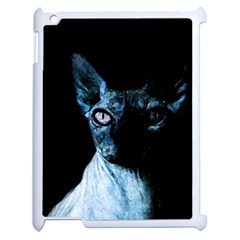 Blue Sphynx Cat Apple Ipad 2 Case (white) by Valentinaart