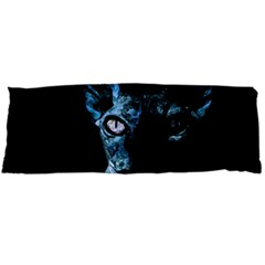 Blue Sphynx Cat Body Pillow Case (dakimakura) by Valentinaart