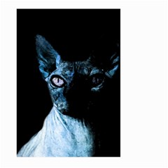Blue Sphynx Cat Large Garden Flag (two Sides) by Valentinaart