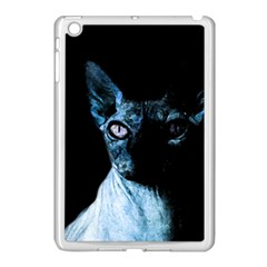 Blue Sphynx Cat Apple Ipad Mini Case (white) by Valentinaart