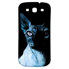 Blue Sphynx Cat Samsung Galaxy S3 S Iii Classic Hardshell Back Case by Valentinaart