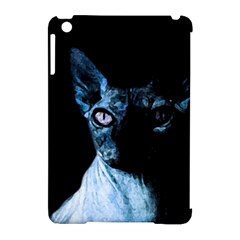 Blue Sphynx Cat Apple Ipad Mini Hardshell Case (compatible With Smart Cover) by Valentinaart
