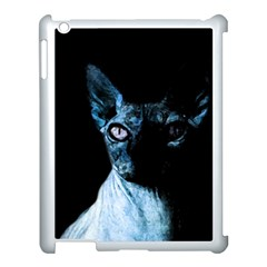 Blue Sphynx Cat Apple Ipad 3/4 Case (white) by Valentinaart