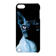 Blue Sphynx Cat Apple Ipod Touch 5 Hardshell Case With Stand by Valentinaart
