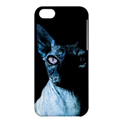 Blue Sphynx Cat Apple Iphone 5c Hardshell Case by Valentinaart