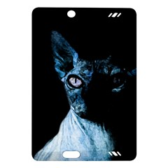 Blue Sphynx Cat Amazon Kindle Fire Hd (2013) Hardshell Case by Valentinaart